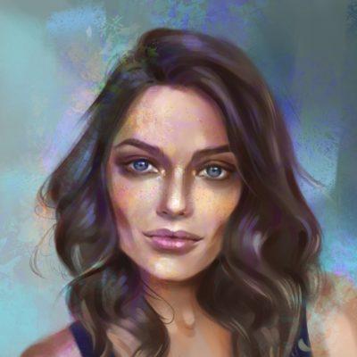portret dziewczyny ze zdjecia photoshop