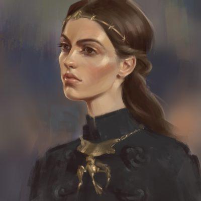 portret ksiezniczki digital art